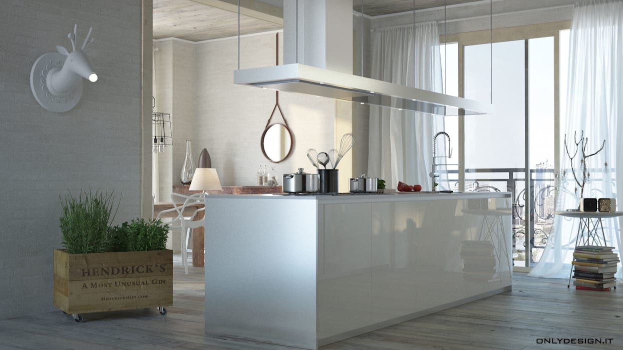 Spazio cucina e living: Cucina in stile  di Onlydesign