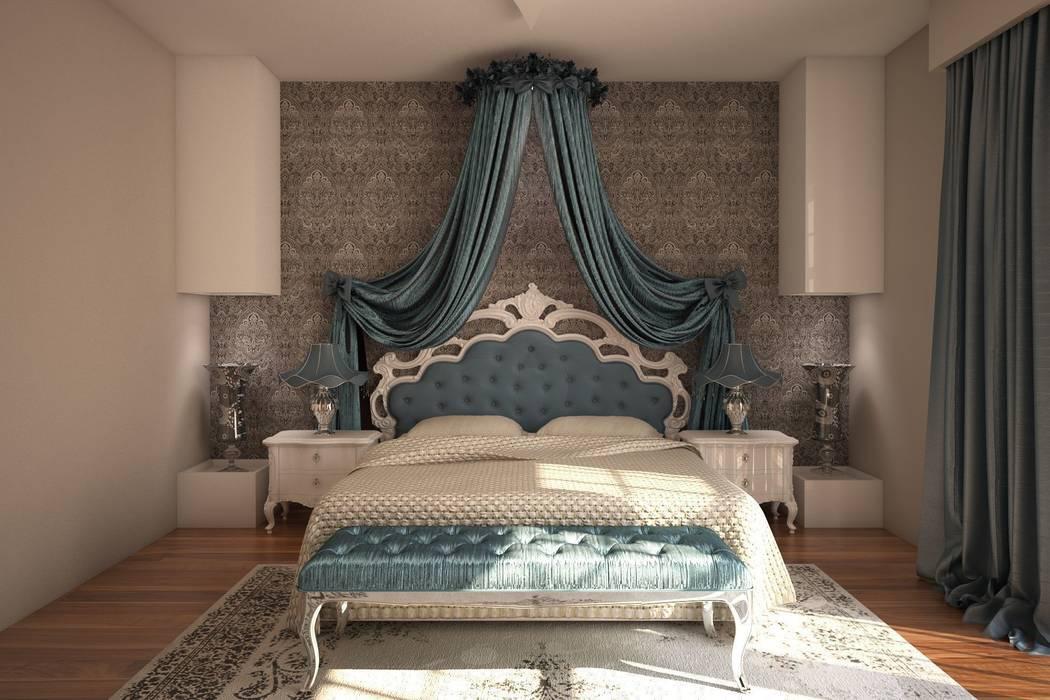 Vezir Yatak / Mavi Sonmez Mobilya Avantgarde Boutique Modoko Klasik Yatak Odası