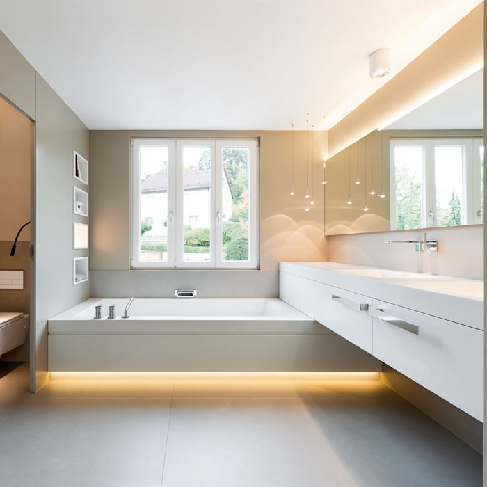 BAD TURNABUONI Moderne Badezimmer von Cyrus Ghanai Interiordesign + PrivatSpa Modern