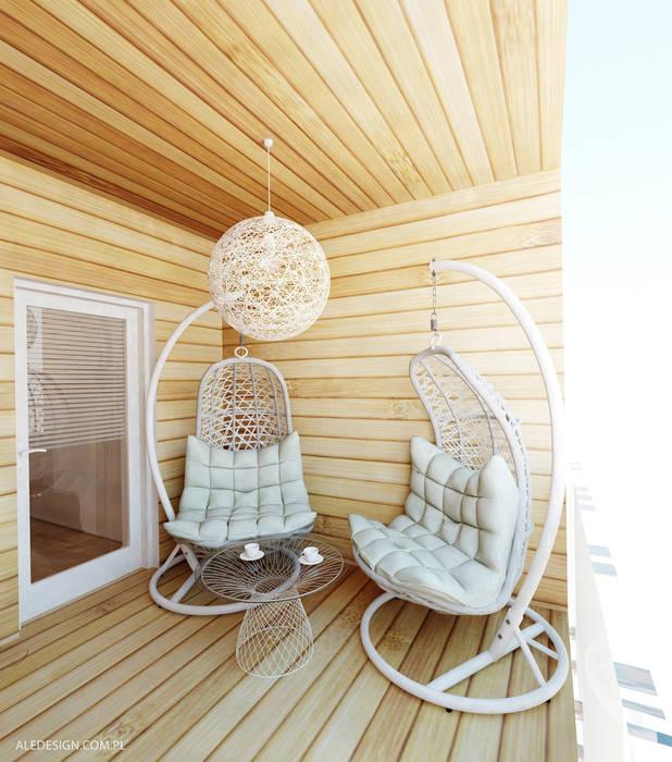 Projekt tarasu Nowoczesny ogród zimowy od Ale design Grzegorz Grzywacz Nowoczesny