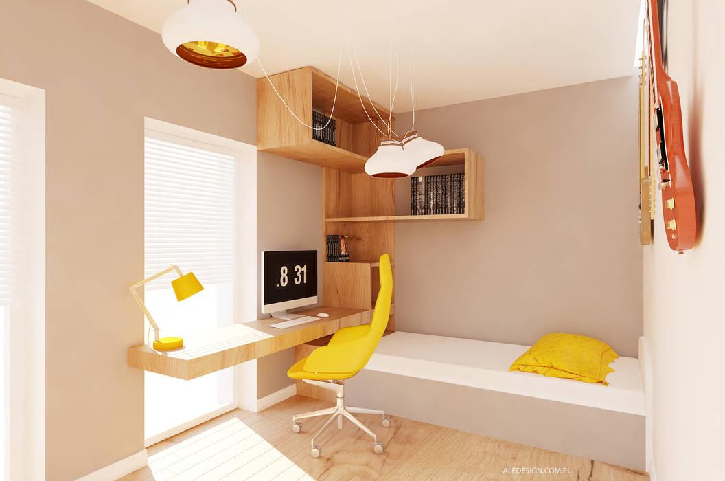 Projekt pokoju nastolatka Nowoczesny pokój dziecięcy od Ale design Grzegorz Grzywacz Nowoczesny