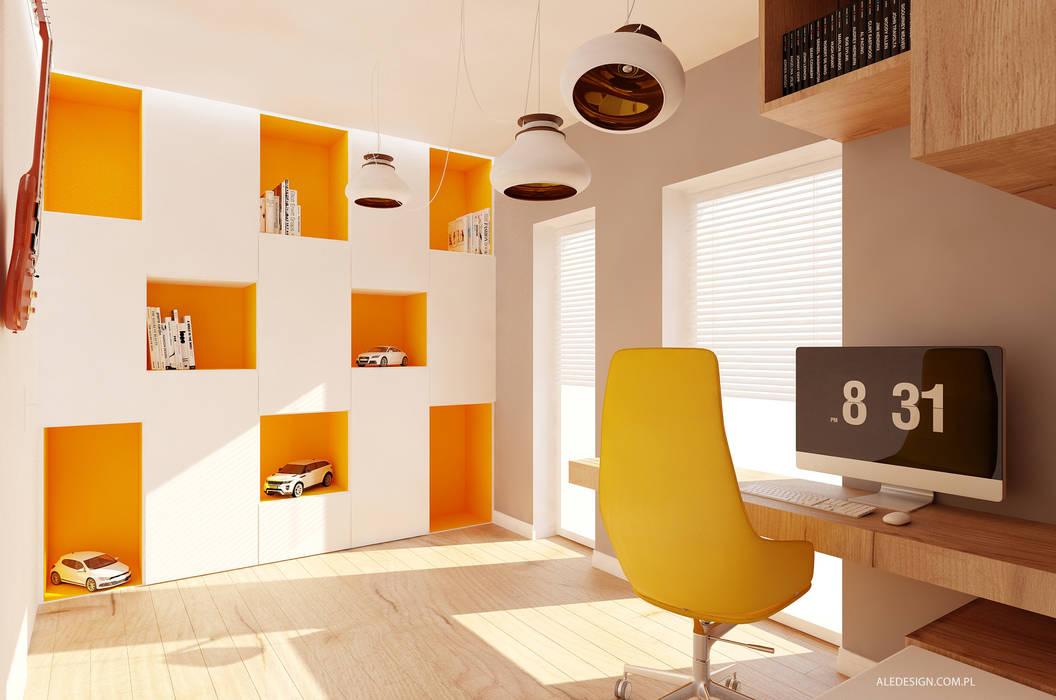 Projekt pokoju nastolatka Minimalistyczny pokój dziecięcy od Ale design Grzegorz Grzywacz Minimalistyczny