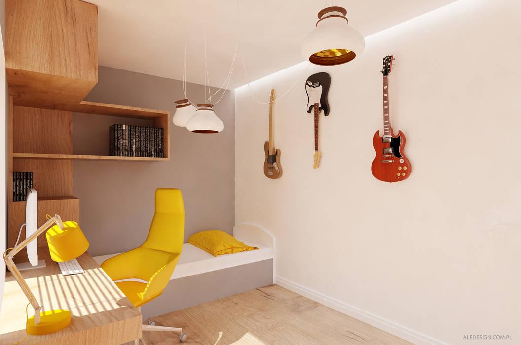 Projekt pokoju nastolatka: styl , w kategorii Pokój dziecięcy zaprojektowany przez Ale design Grzegorz Grzywacz