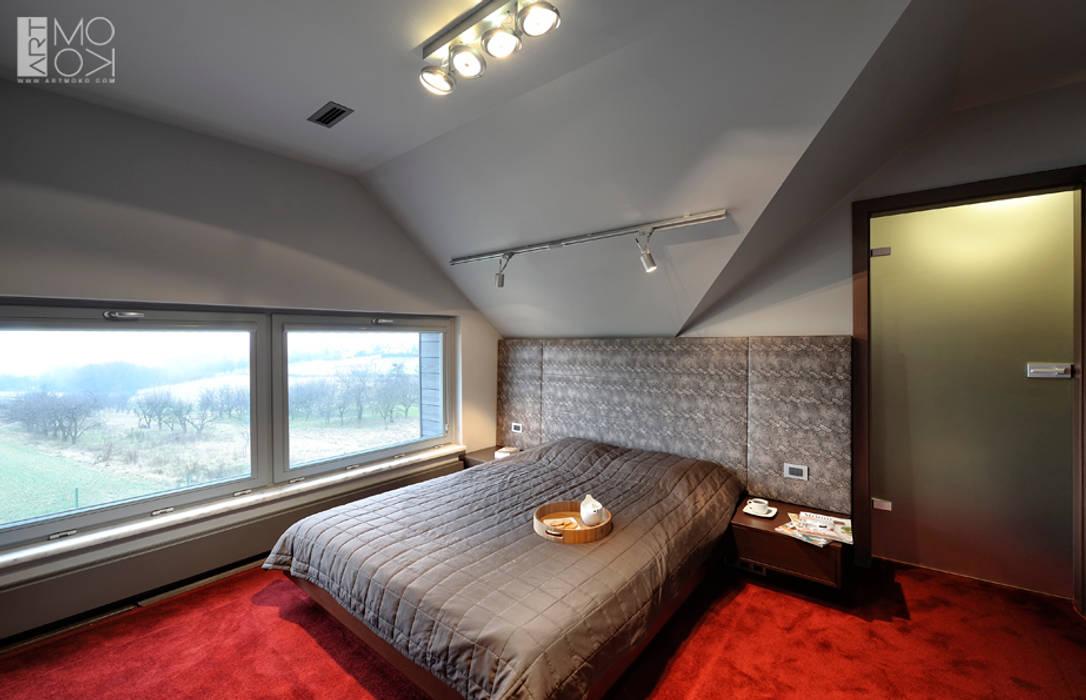 Sypialnia dla gości Nowoczesna sypialnia od Pracownia projektowa artMOKO Nowoczesny