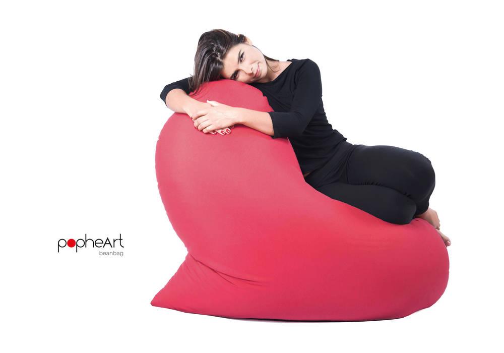 popheArt beanbag di design Inmovimento Moderno Tessuti Ambra/Oro