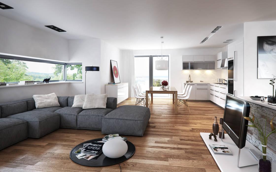 Living minimal: Soggiorno in stile in stile Minimalista di SMAG design