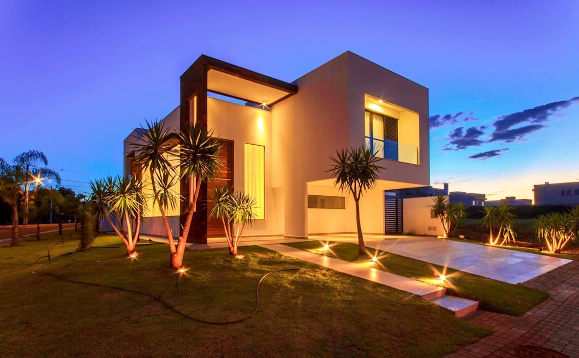 Perspectiva noturna Casas de estilo minimalista de Tony Santos Arquitetura Minimalista