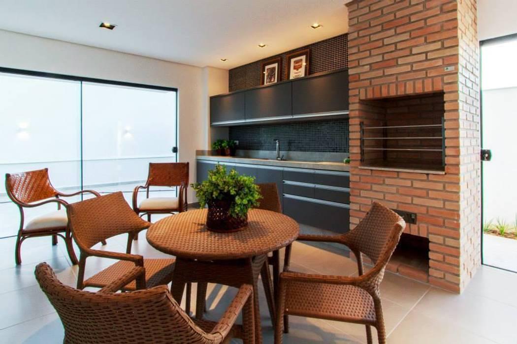 Espaço gourmet Balcones y terrazas de estilo moderno de Tony Santos Arquitetura Moderno