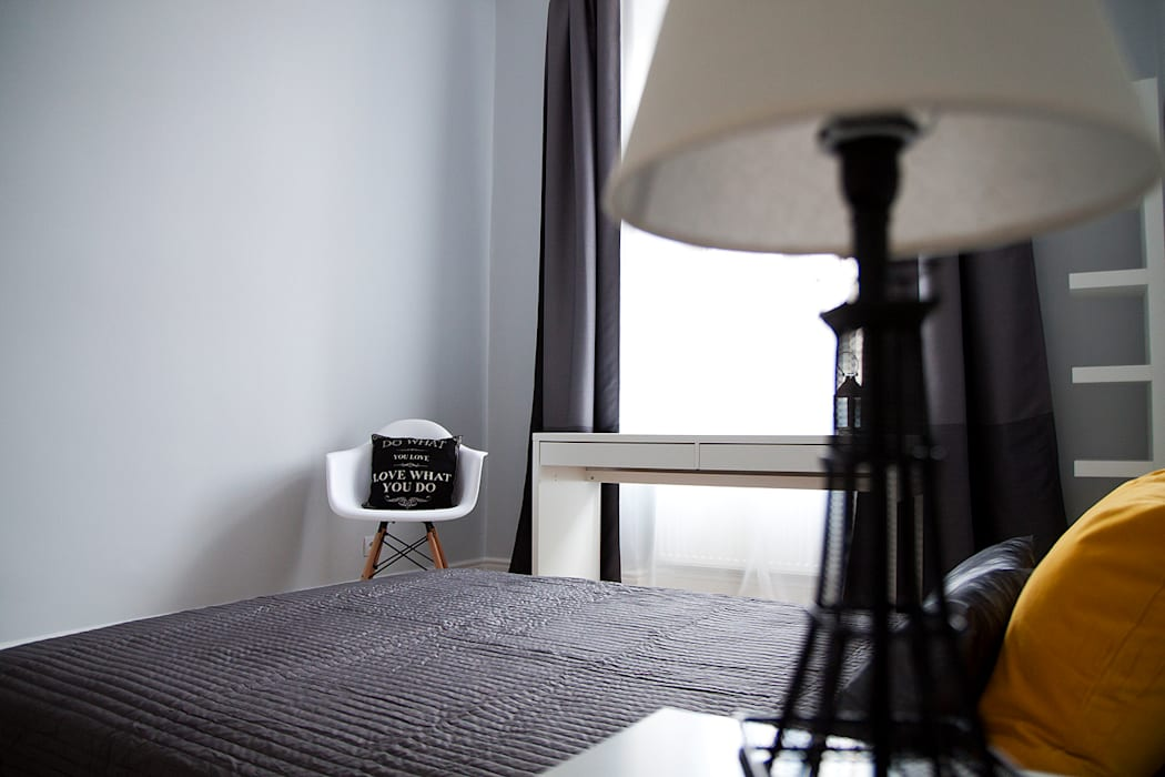 Sypialnia Eklektyczna sypialnia od Grey shade interiors Eklektyczny