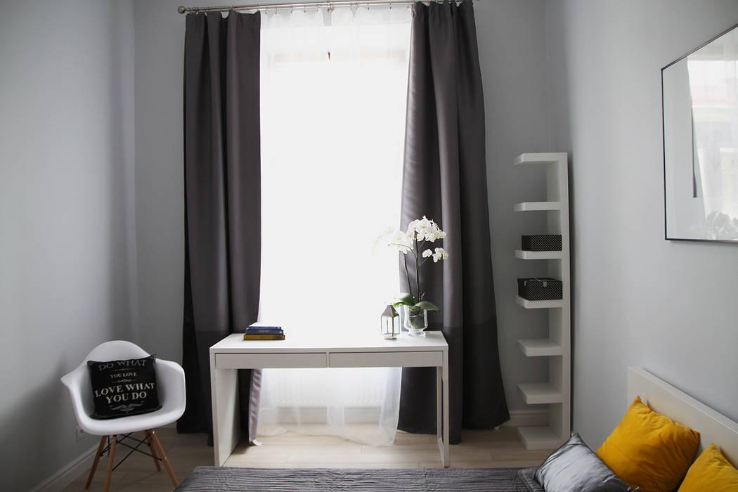 Sypialnia : styl , w kategorii Sypialnia zaprojektowany przez Grey shade interiors