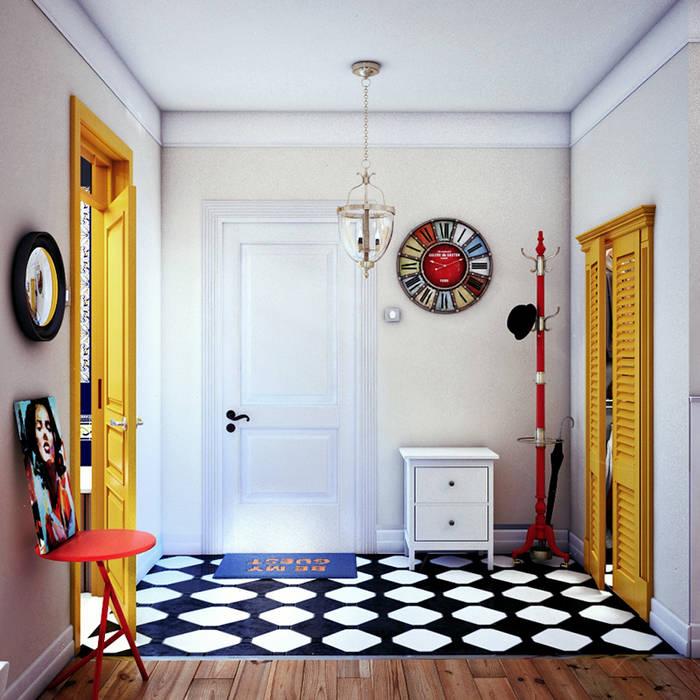 Scandinavian style corridor, hallway& stairs by sreda Scandinavian