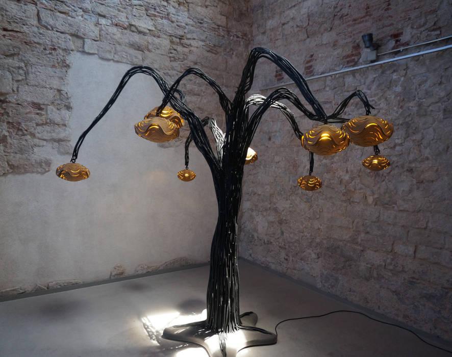 Casuluz - artistic light instalations:  Musea door Tiago Sa da Costa Studio