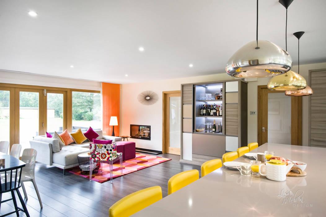 غرفة المعيشة تنفيذ Lisa Melvin Design , حداثي