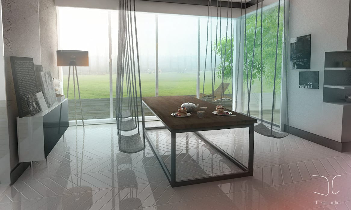 Nowoczesna kuchnia modułowa Nowoczesna jadalnia od D2 Studio Nowoczesny