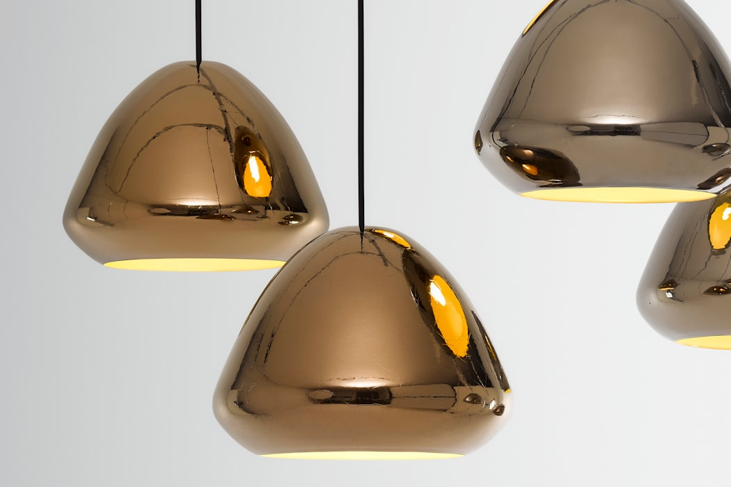 Ross Gardam Glaze ceramiczna, ręcznie formowania lampa sufitowa  z Australii: styl , w kategorii Salon zaprojektowany przez ilumia.pl