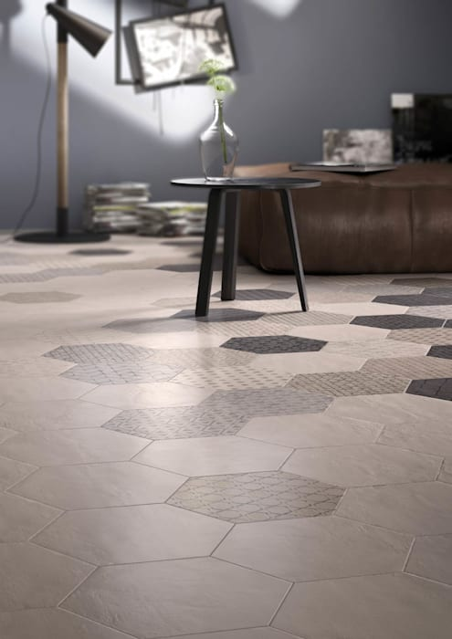 Hexagonal Floor Tiles Modern walls & floors by Tileflair Modern