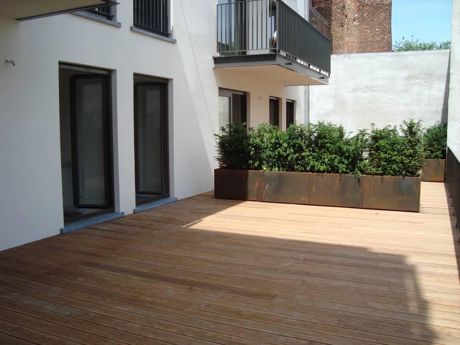 Murs de style  par Punto Verde Bamboe toepassingen, Moderne