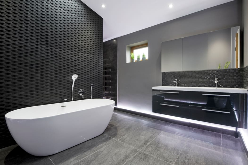 Rock Star Bathroom Moderne Badezimmer von Lisa Melvin Design Modern