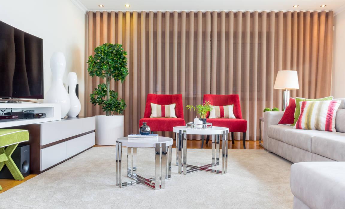 Sala Estar - Encosta do Douro Salas de estar ecléticas por Ângela Pinheiro Home Design Eclético
