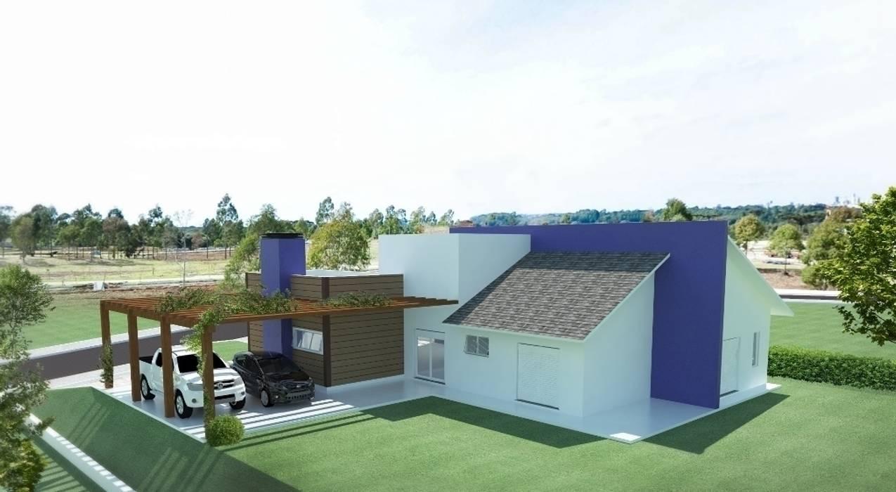 Vista dos Fundos : Casas  por Tuti Arquitetura e Inovação