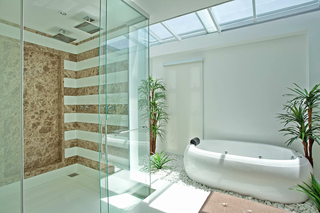 Designer de Interiores e Paisagista Iara Kílaris Modern style bathrooms