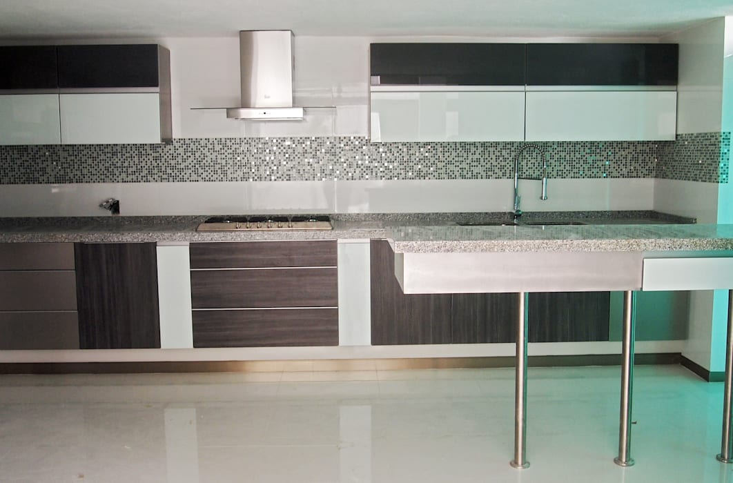Amarillo Interiorismo KitchenCabinets & shelves