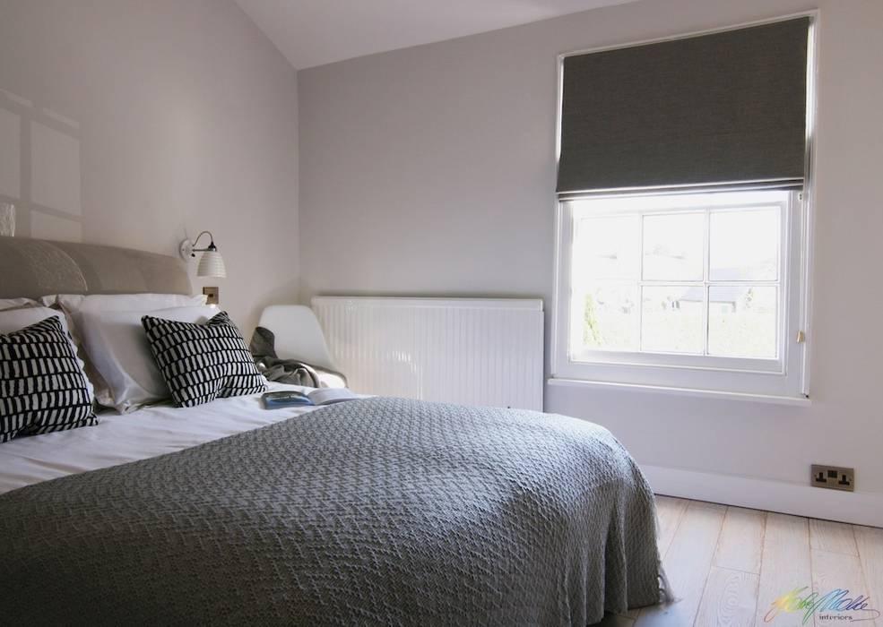 Guest Bedroom 1:  Bedroom by Katie Malik Interiors