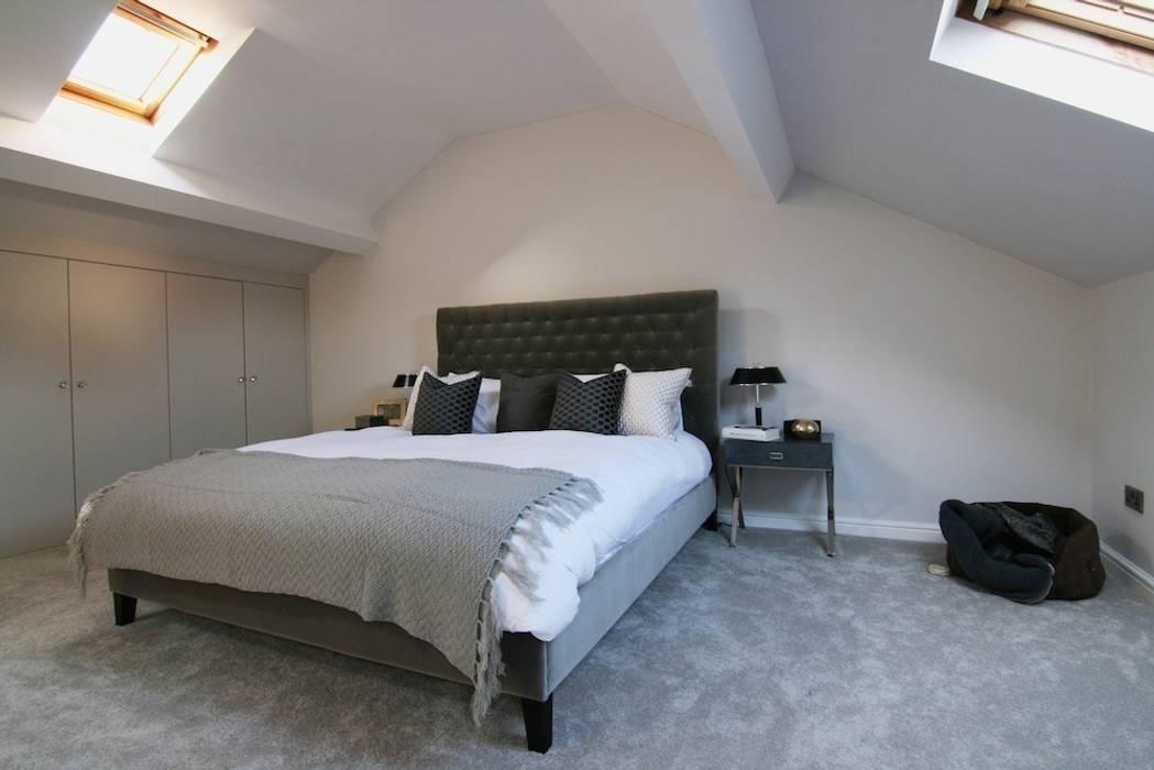 Master Bedroom view:  Bedroom by Katie Malik Interiors
