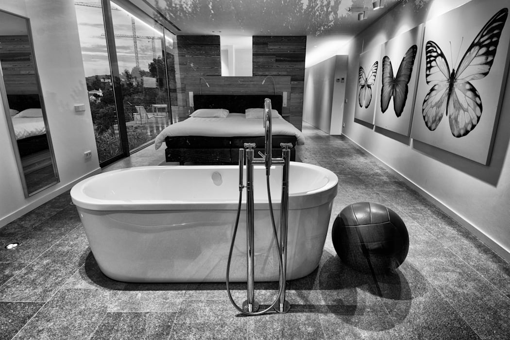Suite principal. Espacios de placer.: Dormitorios de estilo  de VelezCarrascoArquitecto VCArq, Moderno