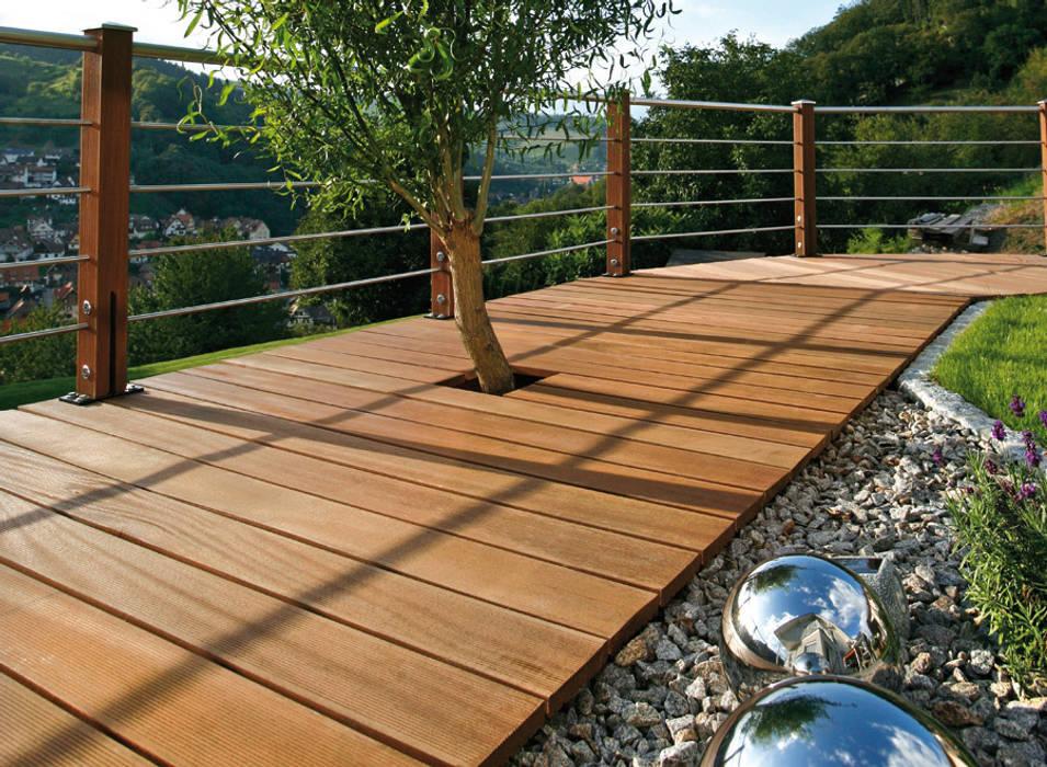 Bangkirai-terrasse verlegt mit dem igel® befestigungssystem ...