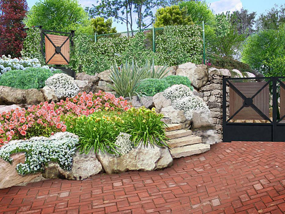 Giardino mediterraneo giardino in stile di italiagiardini homify - Immagini di ville con giardino ...