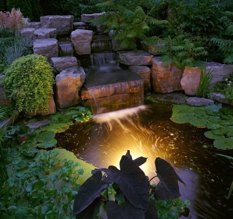 cascata  realizzata  in un  contesto  tropicale: Giardino in stile in stile Tropicale di italiagiardini