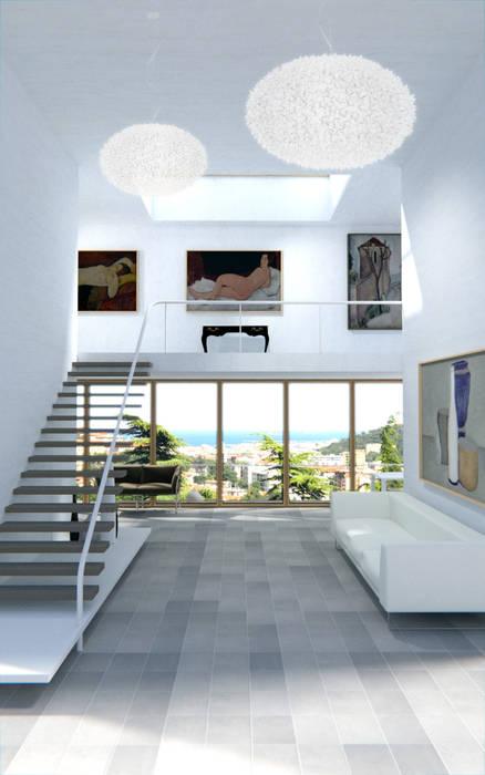 Open space: Soggiorno in stile in stile Moderno di Ivo Buda Architetto