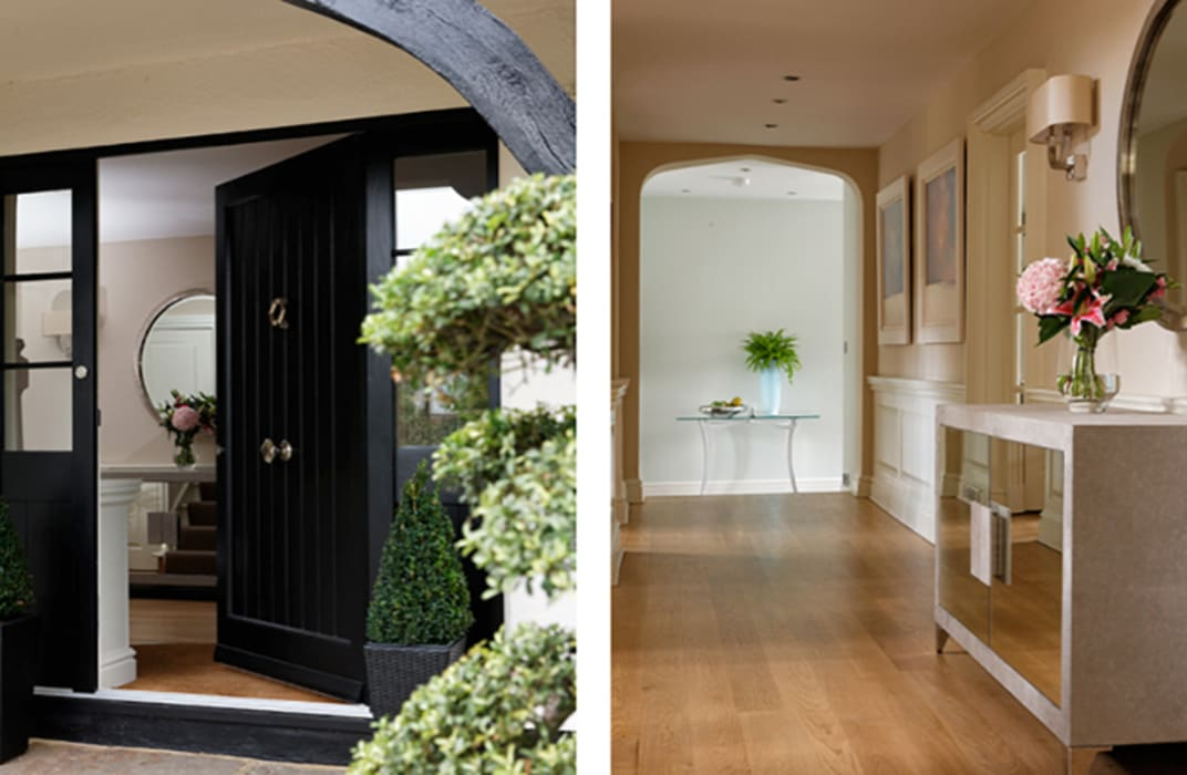 Front door and hallway Classic style houses by K-Tribe Studió Classic