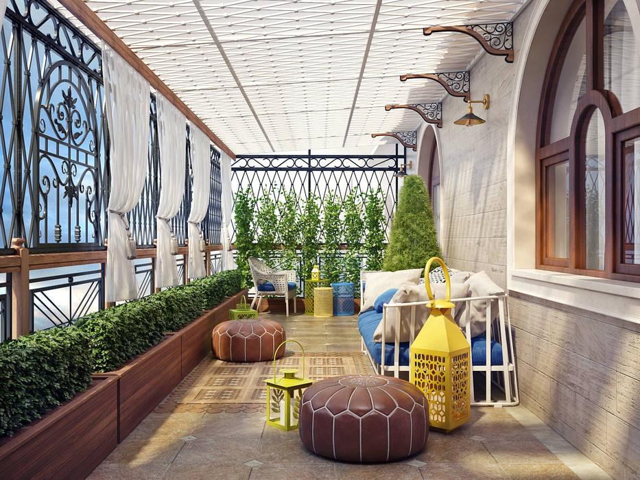 Balcones y terrazas de estilo mediterráneo de Sweet Home Design Mediterráneo
