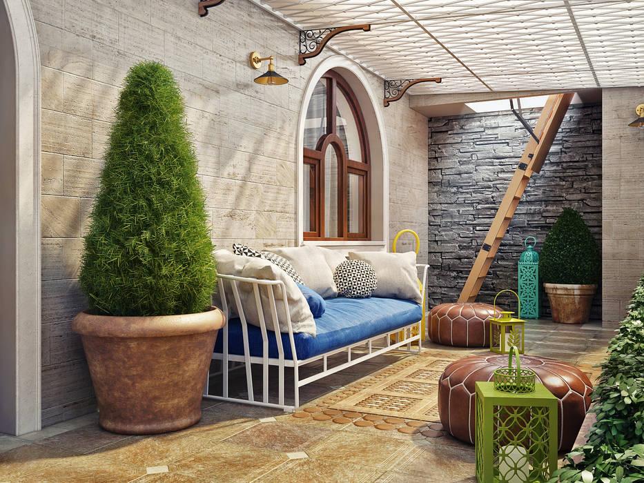 Летняя терраса в частном доме: Tерраса в . Автор – Sweet Home Design,
