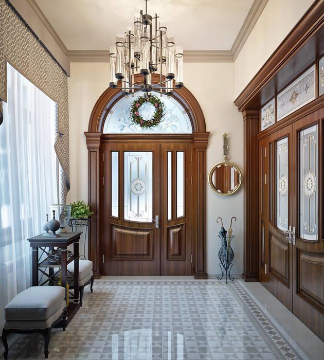 Небольшой холл в частном доме: Коридор и прихожая в . Автор – Sweet Home Design, Классический