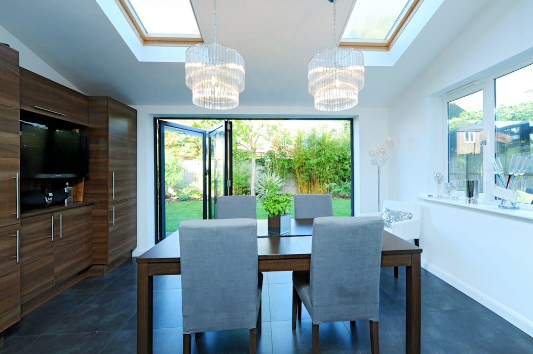 Kitchen Extension With Bi Folding Doors Windows By Rococo