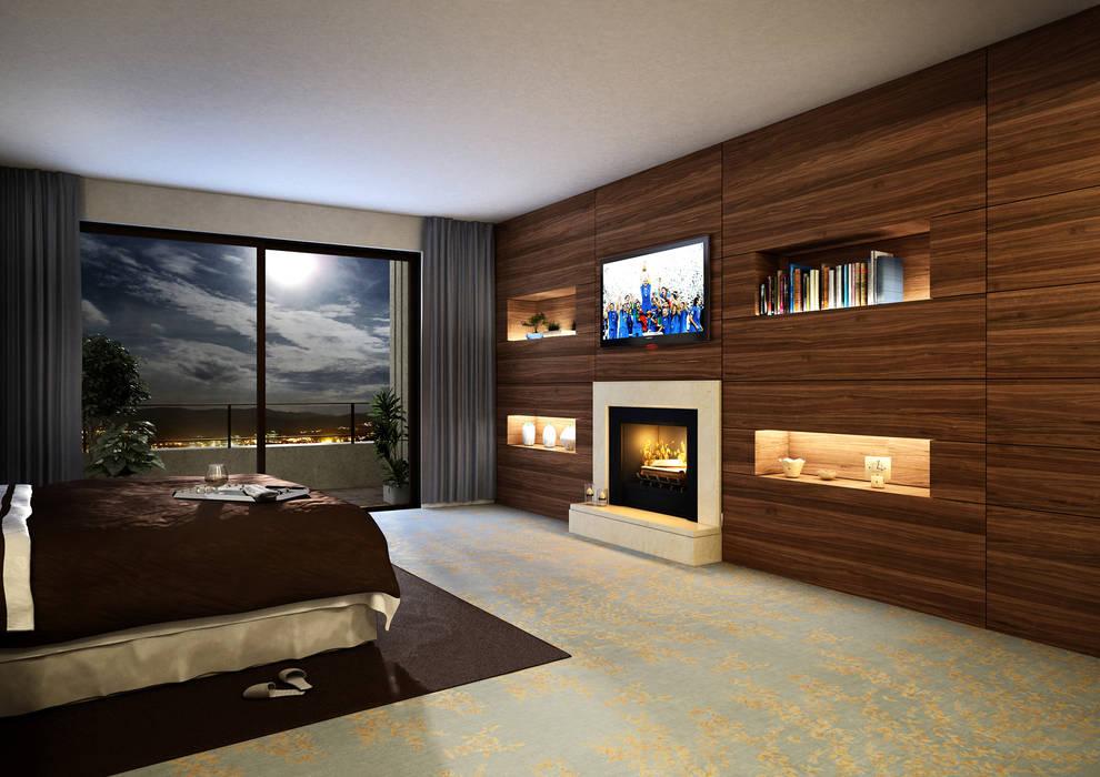 Render boiserie: camera da letto in stile di ilrender modeling e ...
