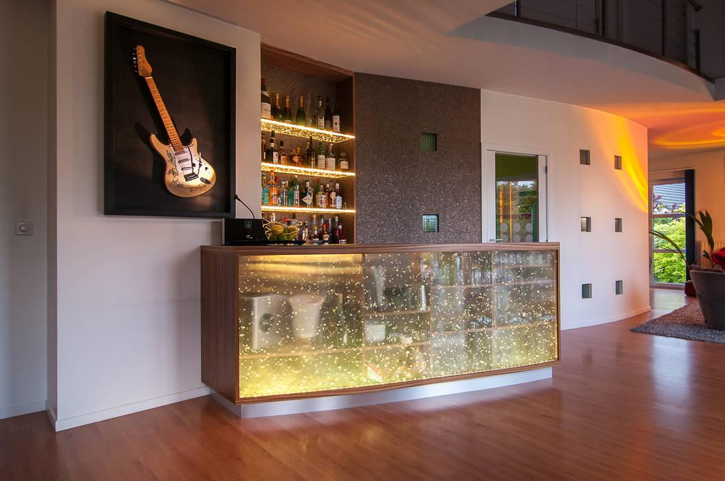 Création et intégration d\'un comptoir-bar contemporain ...
