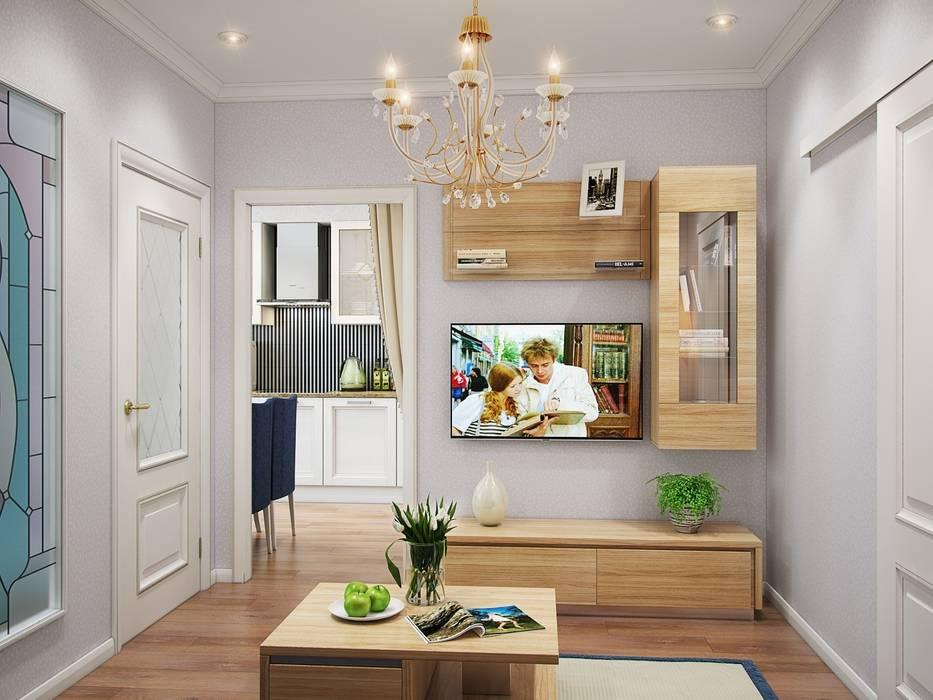 Квартира в стиле современная классика: Гостиная в . Автор – Студия дизайна интерьера Маши Марченко, Эклектичный