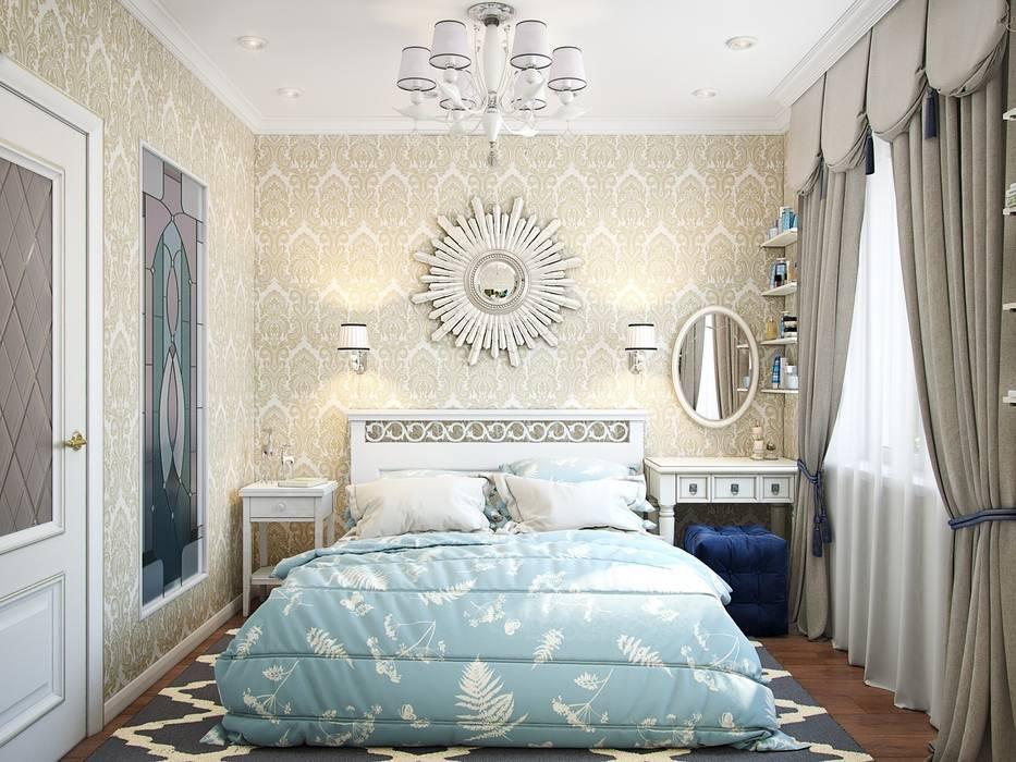 Квартира в стиле современная классика Спальня в эклектичном стиле от Студия дизайна интерьера Маши Марченко Эклектичный