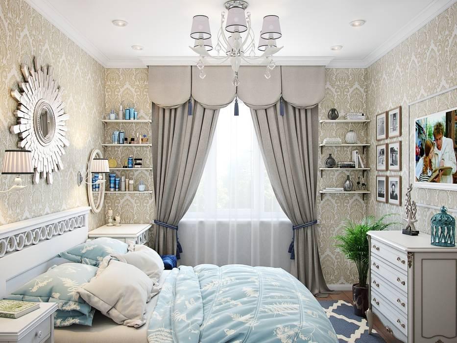 Квартира в стиле современная классика: Спальни в . Автор – Студия дизайна интерьера Маши Марченко,