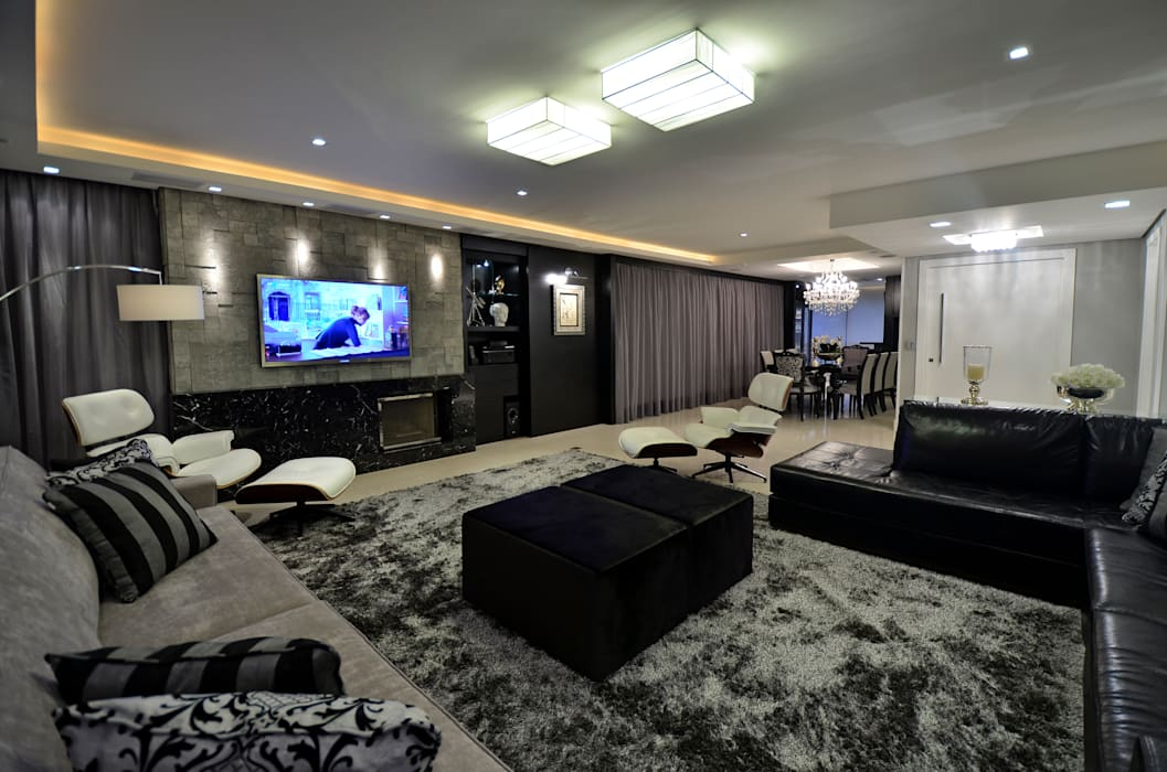 Apartamento Bela Vista: Salas de estar  por Francisco Humberto Franck,Moderno