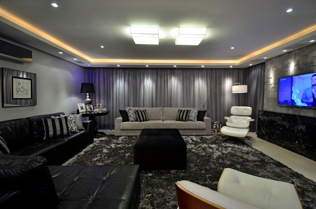 Apartamento Bela Vista: Salas de estar  por Francisco Humberto Franck