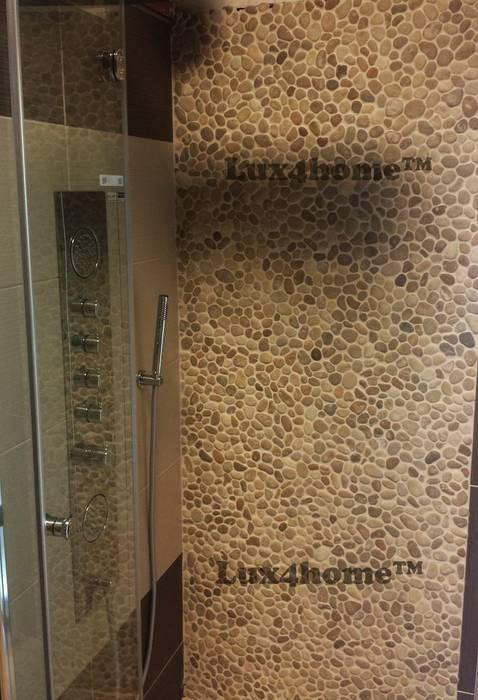 Beżowe Otoczaki pod prysznicem: styl , w kategorii Łazienka zaprojektowany przez Lux4home™