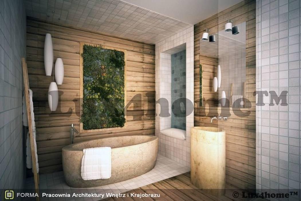 Koncept łazienki - wanna marmur i umywalka: styl , w kategorii Łazienka zaprojektowany przez Lux4home™