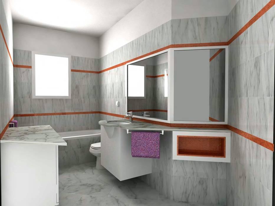 D fotorealistici e progettazione di interni bagno in stile di