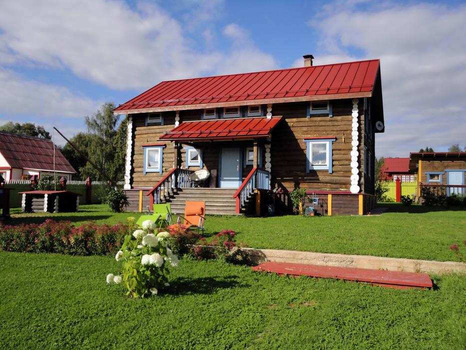 Усадьба под Волоколамском в традиционном стиле: Дома в . Автор – Бюро Акимова и Топорова, Классический