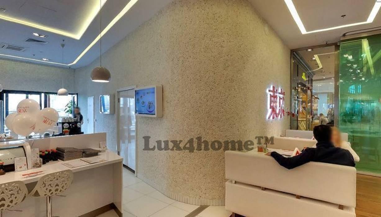 Białe otoczaki na ścianie restauracji: styl , w kategorii Ściany zaprojektowany przez Lux4home™